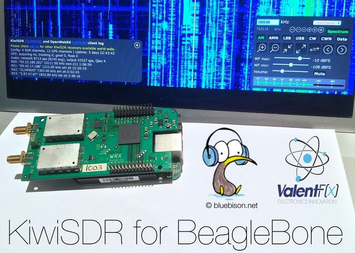 KiwiSDR BeagleBone Software
