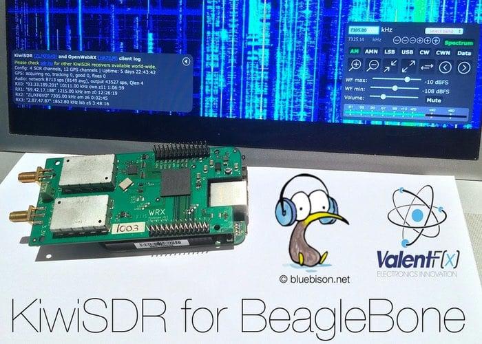 KiwiSDR BeagleBone Black Radio With Multi-User Web Interface (video