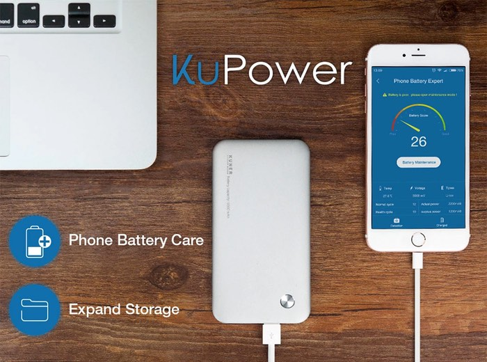 KuPower Battery Pack And Mobile External Storage Drive