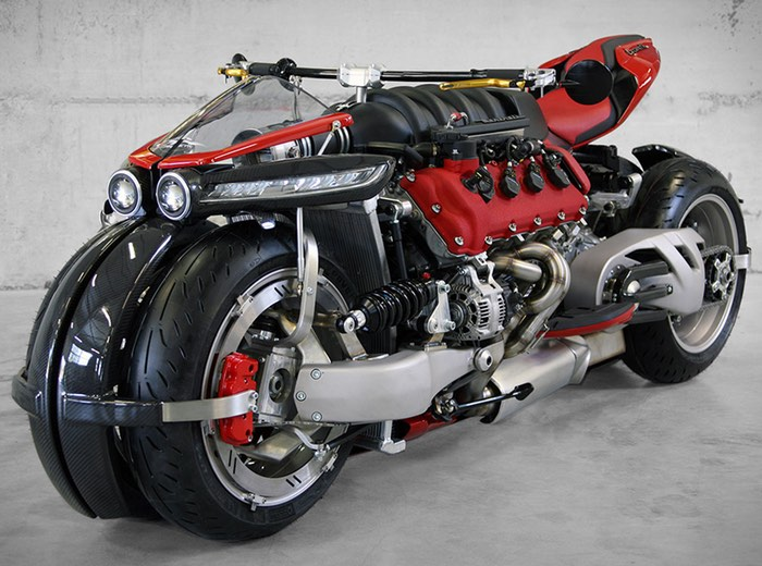 Awesome Lazareth LM847 Quad Motorcycle Powered By Maserati Engine