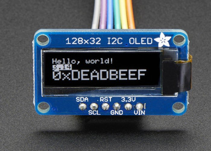 Monochrome 128x32 I2C OLED graphic display