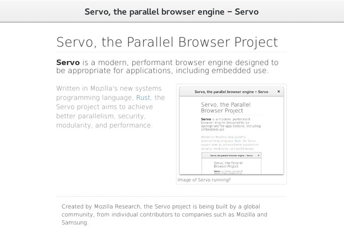 Mozilla Servo Browser