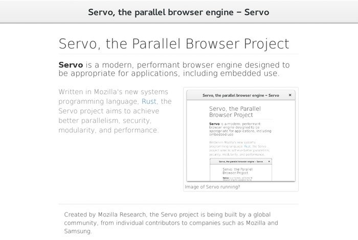Mozilla Servo Browser