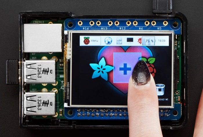 PiTFT 2.4 HAT Mini Kit 320x240 TFT Touchscreen