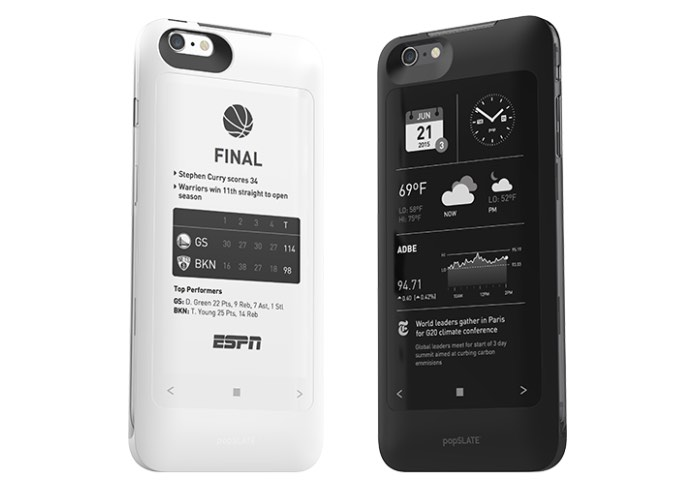 popSLATE 2 iPhone Case Adds A Second Screen On The Rea