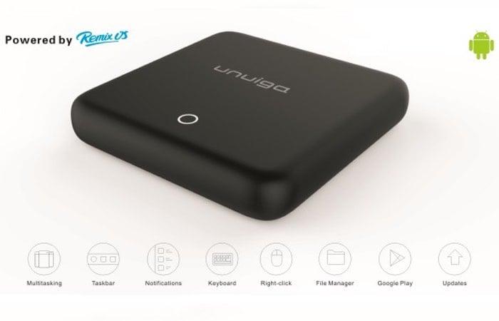Unuiga S905 Mini PC Running Remix OS