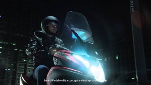 Samsung Smart Windshield Is Designed For Motorcycles (Video)