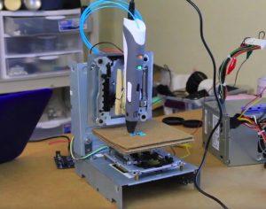$65 3D Printer Built By Tinkernut Using A 3D Printing Pen (video)