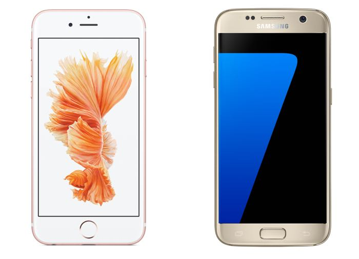 iPhone 6S vs Samsung Galaxy S7