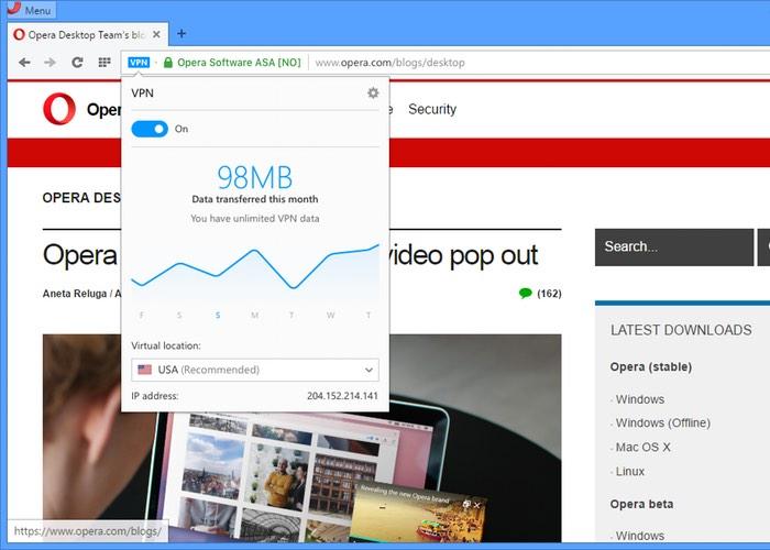 Free Opera VPN Service