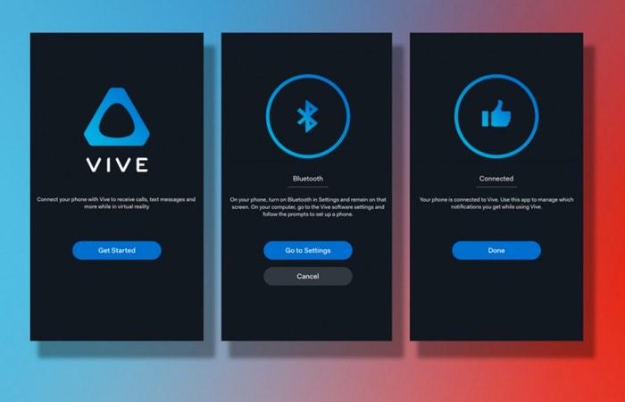 HTC Vive iOS App