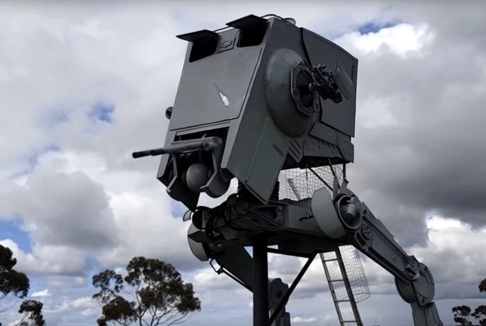 Life-Size Star Wars AT-ST Walker Built By Fan
