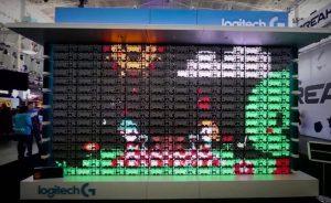 Logitech Creates Retro Display Using 160 Backlit Keyboards (video)