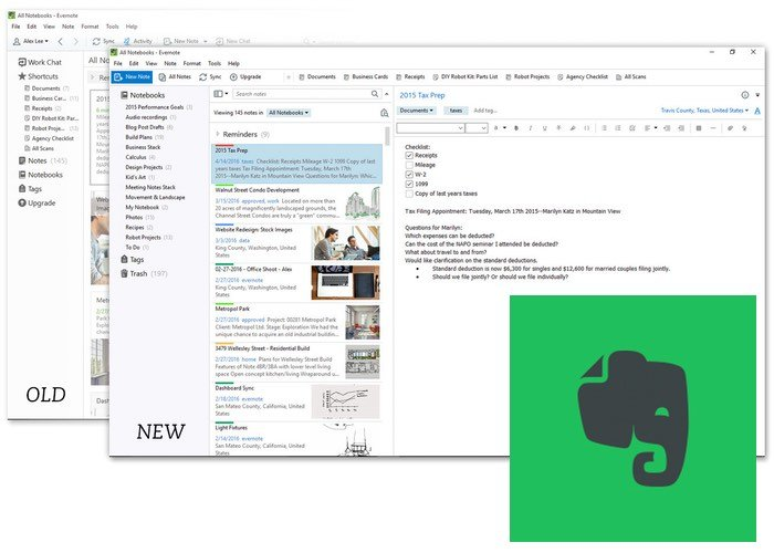 New Evernote for Windows App