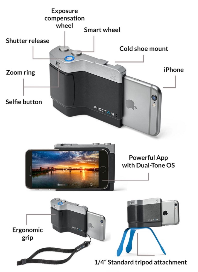 PICTAR iPhone Camera Grip Case