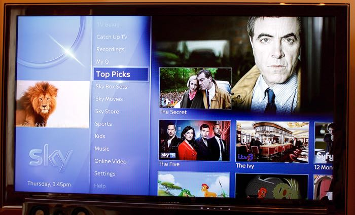 Sky Q User Interface