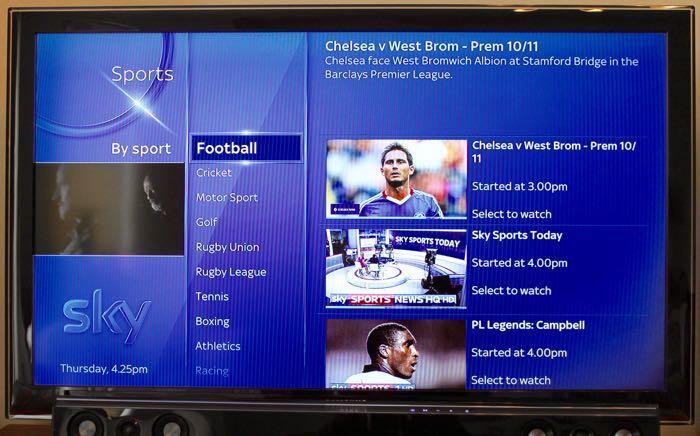 Sky Q Sports
