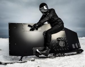 Awesome Snoped Snowmobile Designed By Joey Ruiter (video)