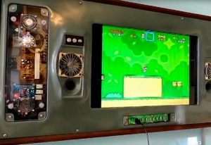 Wall Mounted Raspberry Pi Games Console (video)