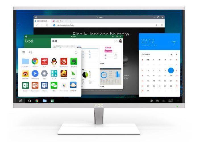 AOC Desktop All-in-one PC Running Remix OS