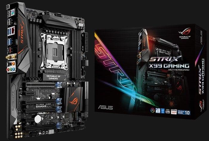 ASUS ROG Strix And X99 Premium Motherboards