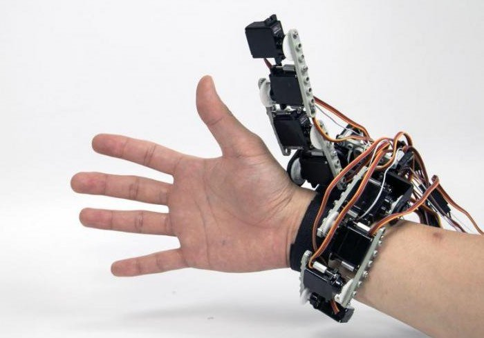 Arduino wearable constructed from lego gives you a robotic