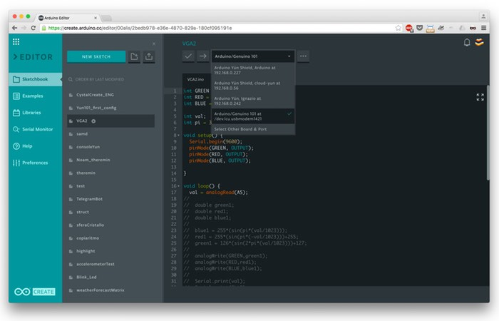 Arduino Web Editor Now Available As Part Of Arduino Create
