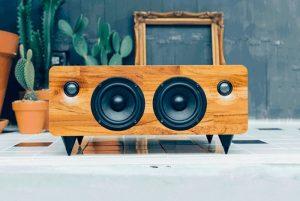 MIN7 Multi-function Handmade Bluetooth Wooden Speaker (video)