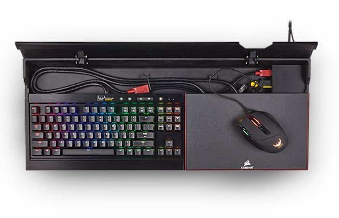 corsair lapdog portable gaming control center unveiled for 120 video geeky gadgets. Black Bedroom Furniture Sets. Home Design Ideas