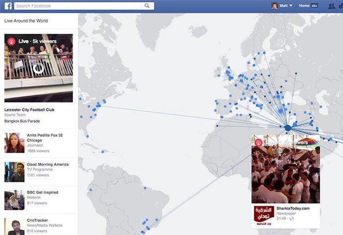 Facebook Interactive Map