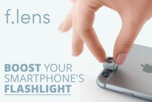 Flens Smartphone Flashlight Focus Lens, Boosts Your LED Flash Up To 10x (video)