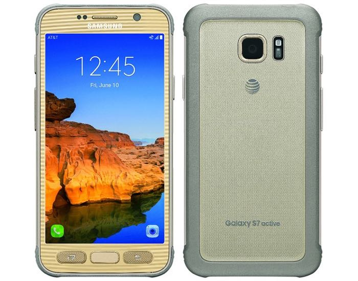 Gold Samsung Galaxy S7 Active