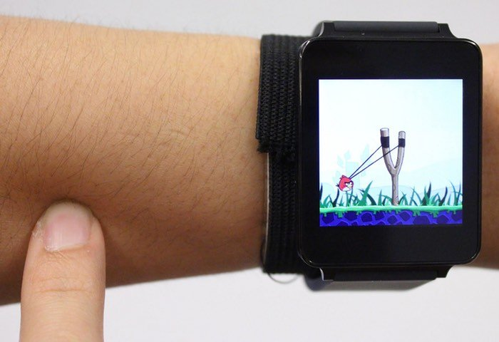 SkinTrack Transforms Your Skin Into A Smartwatch User Interface