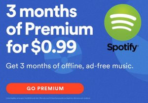 3 Months Of Spotify Premium For $0.99 Via PlayStation Music