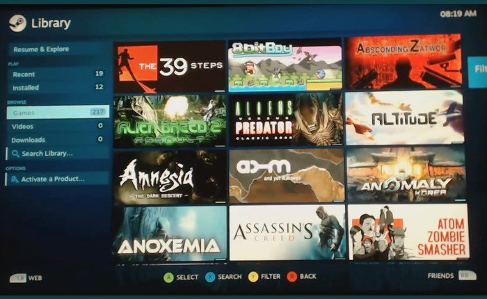 Steam PlayStation 4 Linux