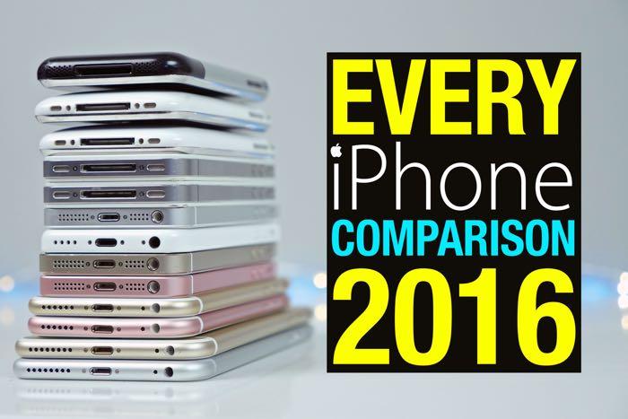every single iphone