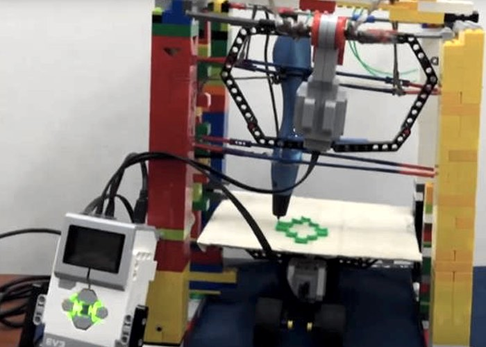 how to build a lego 3d printer