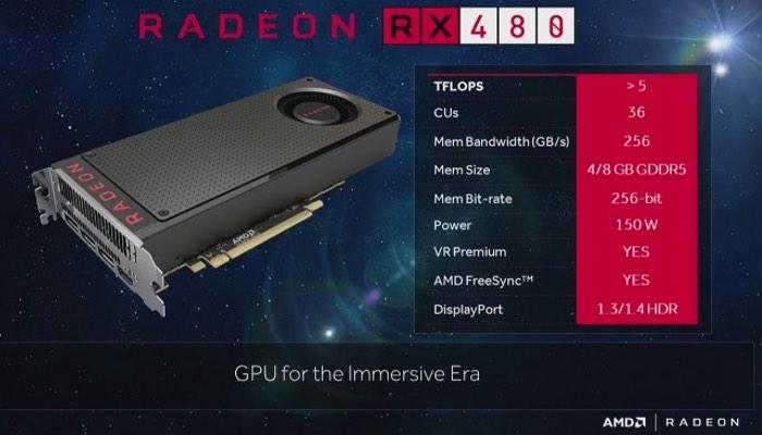 AMD RX 480 GPU