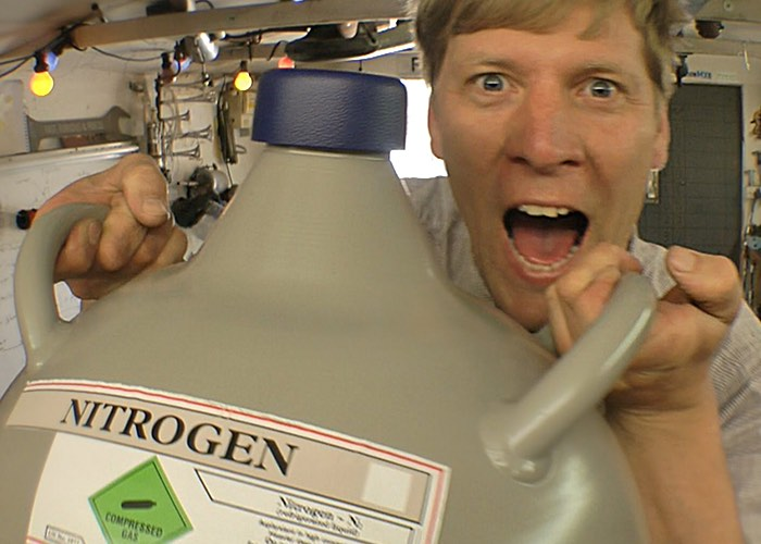Colin Furze Creates Palm Mounted Liquid Nitrogen Freeze Blaster
