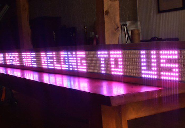 DIY Massive Arduino Powered LED Scrolling Sign