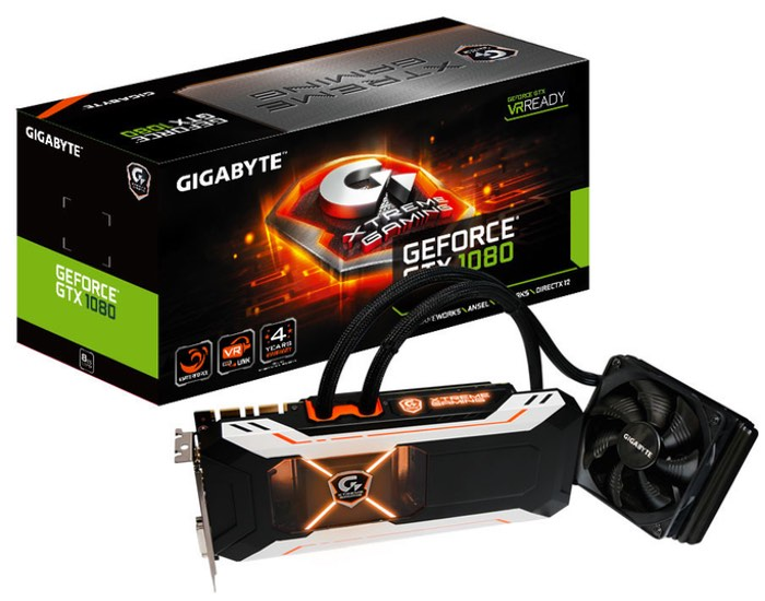 GIGABYTE GeForce GTX 1080 Xtreme Gaming Water Cooled Graphics Card
