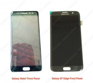 Samsung Galaxy Note 7 Front Panel Leaked