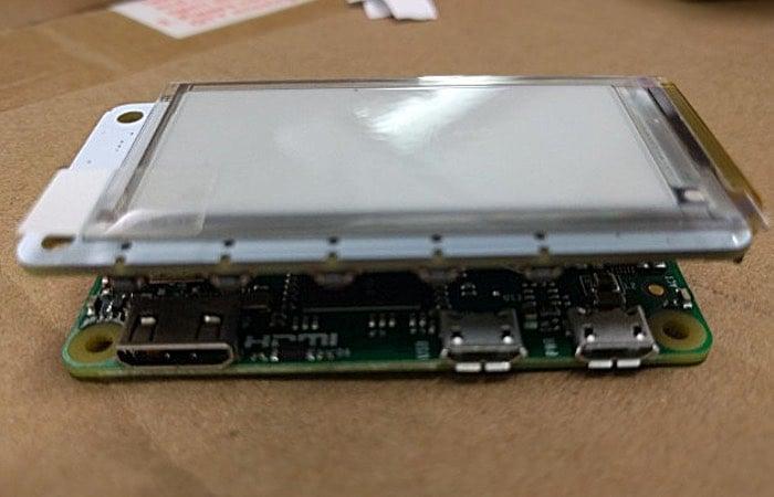 Raspberry Pi Zero PaPiRus E-Paper Display