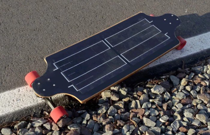 Solar Electric Skateboard