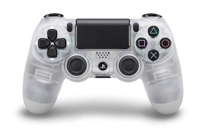 Steel, Gold, Silver And Transparent PS4 Controllers