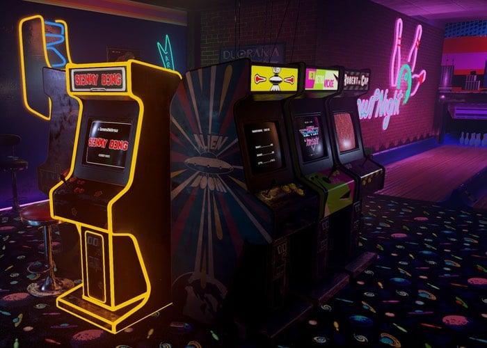 Virtual Reality Retro Arcade Demo