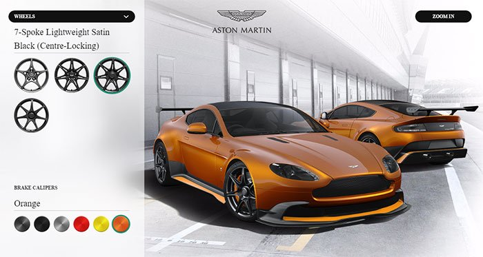 aston martin vantage gt8 configurator launches - geeky gadgets