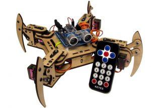 mePed Mini Quadruped Robot Kit (video)