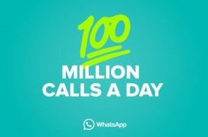WhatsApp Users Made 100 Million Calls in WhatsApp Daily
