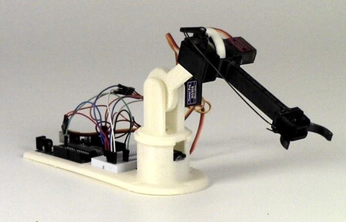 3D Printed LittleArm Arduino Robot Arm